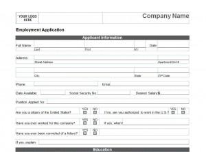 Printable Job Application