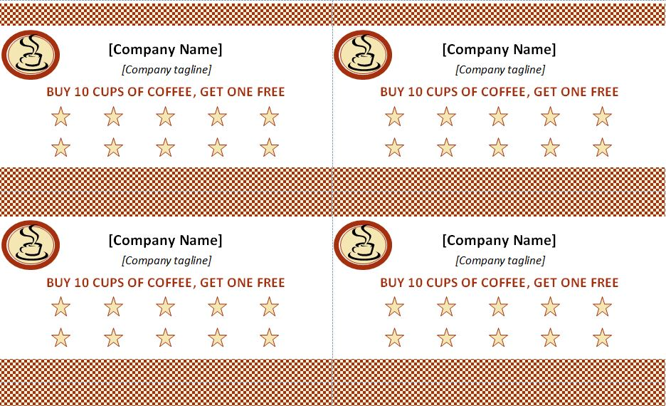 avery membership card template - punch card template