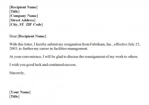 Resignation Letter Template | Resignation Letter