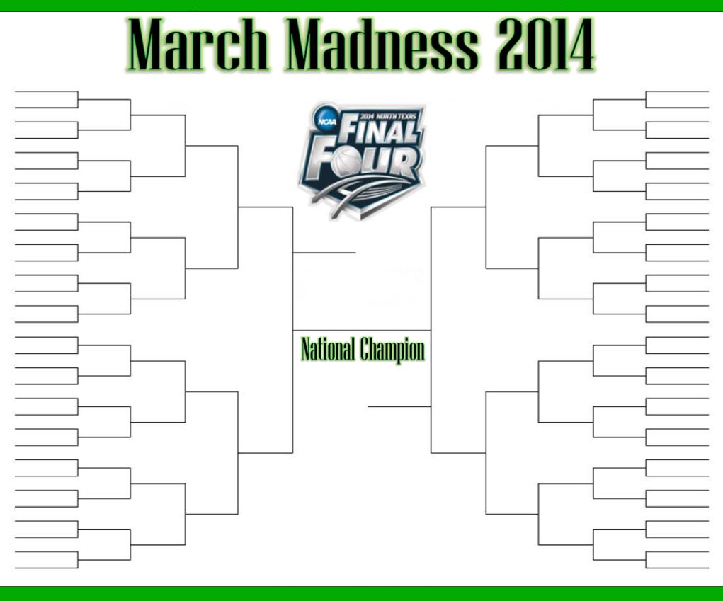 Free March Madness Bracket