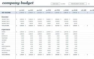Microsoft's 18 Period Budget Template