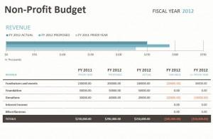 Microsoft's Non Profit Budget Template