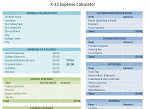 School Expense Calculator
