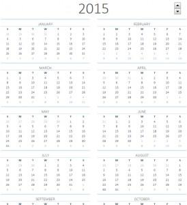 calendar sheets 2015 printable