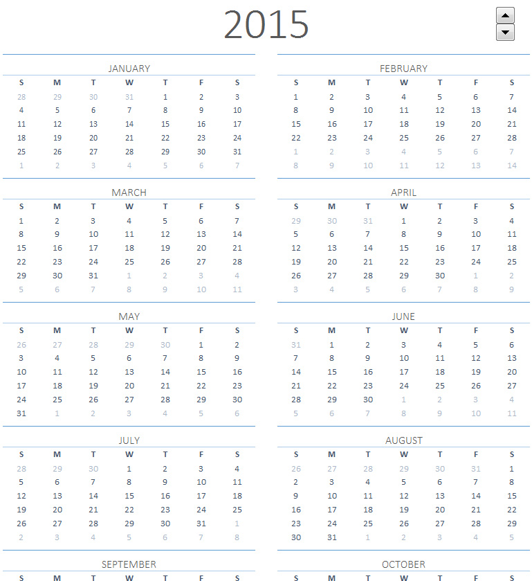 2015 Calendar On One Page | Search Results | 2016 Calendar Printable