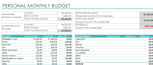 Excel Monthly Budget