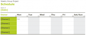 Group Project Schedule Template