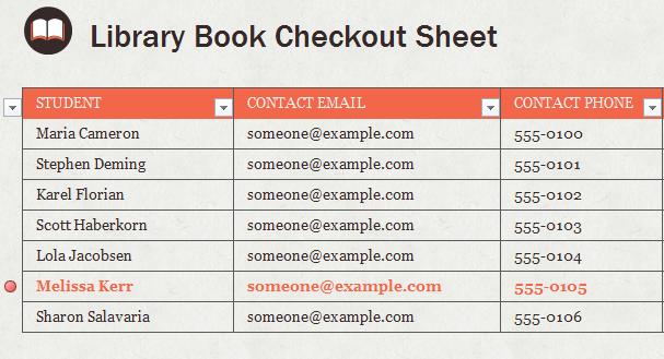 Library book checkout template maxwellsz