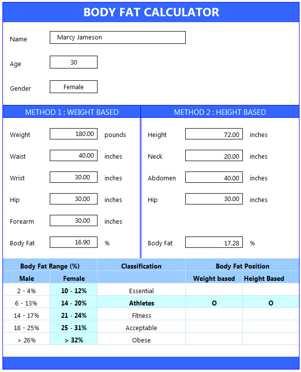 Fat Calculator Body 26