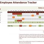 2016 employee attendance tracker