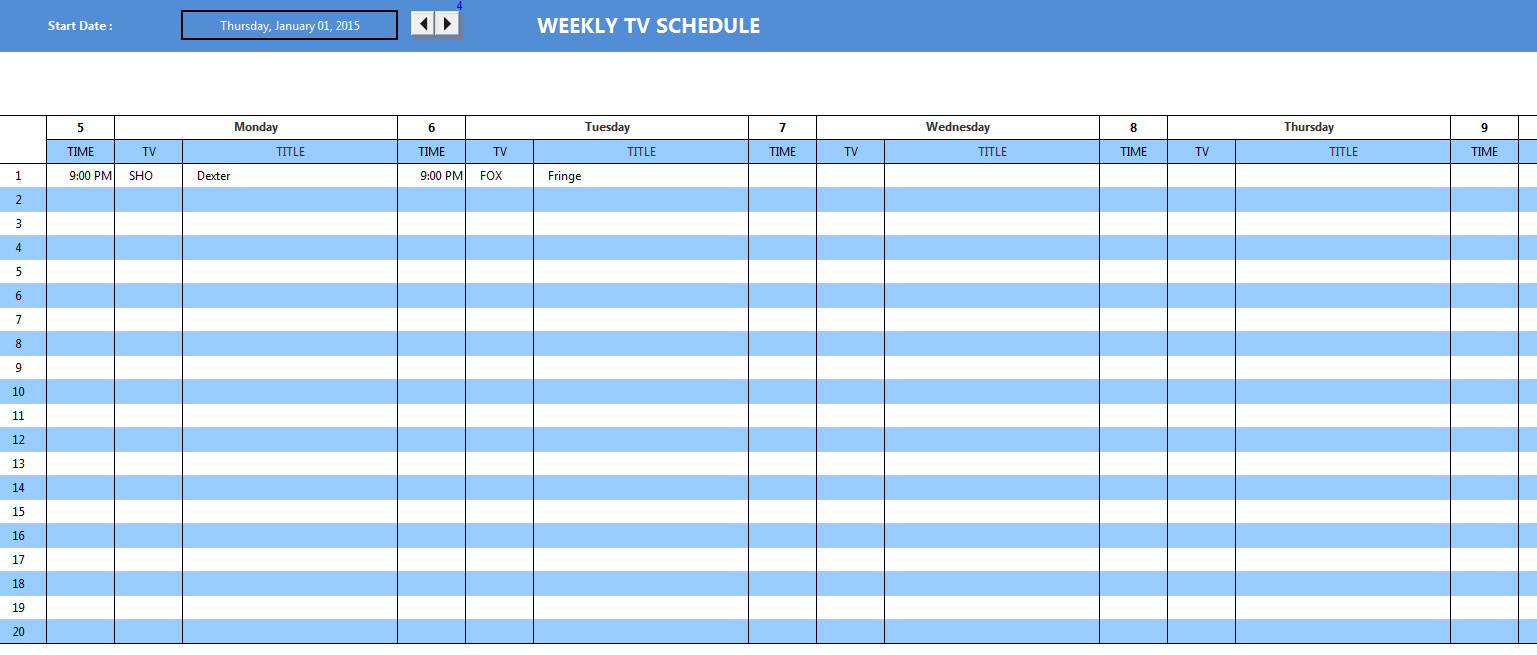 Personal excel template personal excel templates for Baseball schedule template free