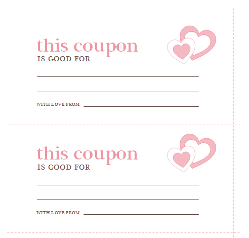 Valentine's Day Coupons Template