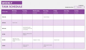 Weekly-Student-Task-Template