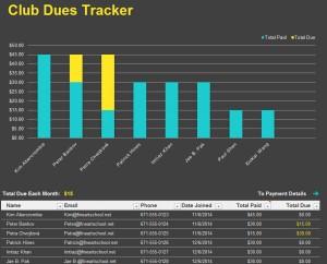 Club Due Tracker