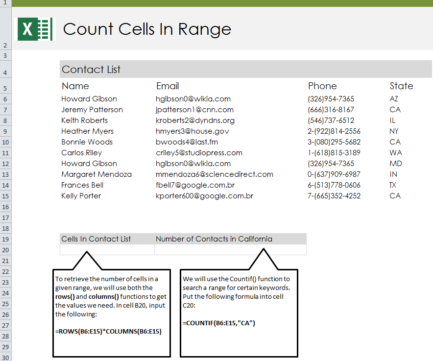 Count Cells with Text - My Excel Templates