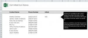 Get Initials in Excel