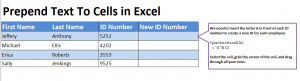How to Prepend Text In Excel