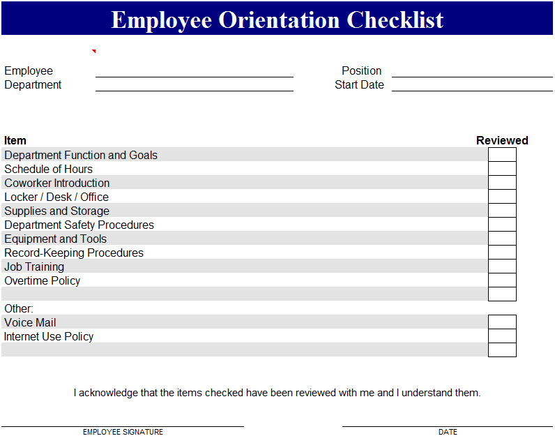Sample New Hire Checklist Template It Services Onboarding Checklist