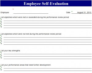 High Quality Employee Self Evaluation Template Photo Gallery