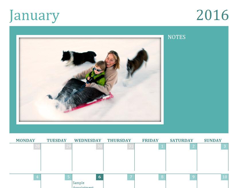 family photo calendars