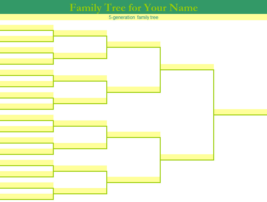 Multi Option Family Tree Template My Excel Templates