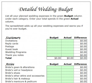 wedding budget planner template my excel templates