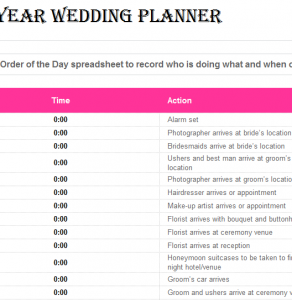 One-year-wedding-planner