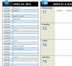 Personal Daily Schedule
