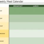 Weekly Meal Calendar