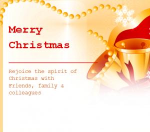 Holiday christmas invitation template