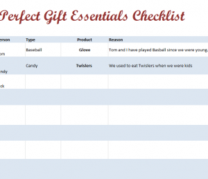 Perfect Gift Checklist