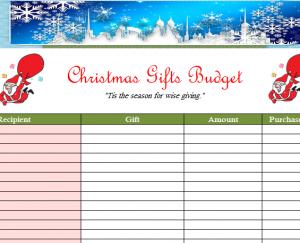 Simple Holiday Christmas Budget