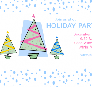 Simple Holiday Family Invitations