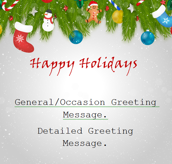 simple holiday greeting card
