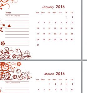 2016 Simple Calendar Sheet (2)