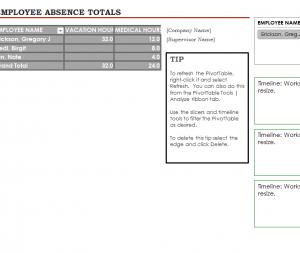Employee Absence Tracking Calendar