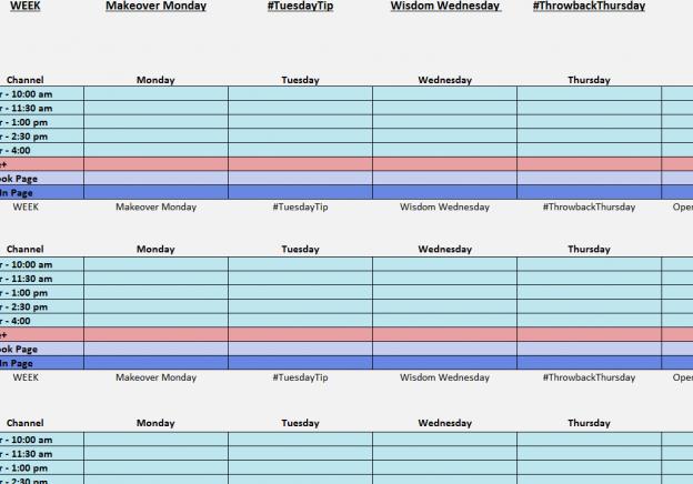 Media Schedule Template Excel