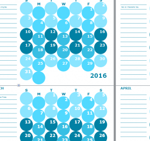 Monthly Notepad Calendar