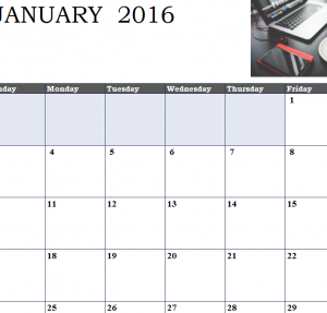 Social Calendar Sheet