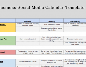 2019 Social Media Marketing Calendar My Excel Templates