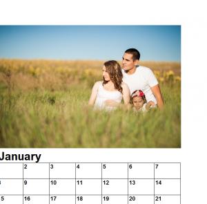 2016 simple family photo calendar