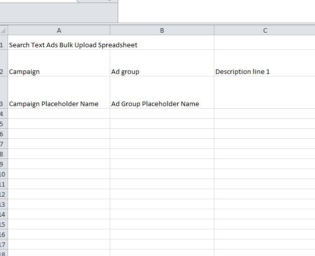 ad copy upload spreadsheet