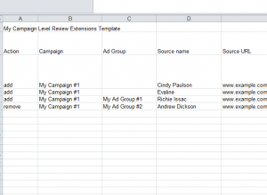 Campaign Level review extensions template