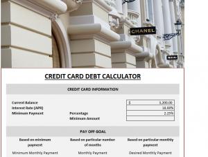Credit Card Debt Elimination Calculator