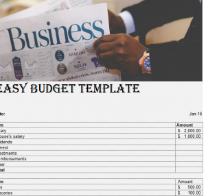Easy Budget Template (1)