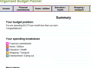 Organized Budget Planner