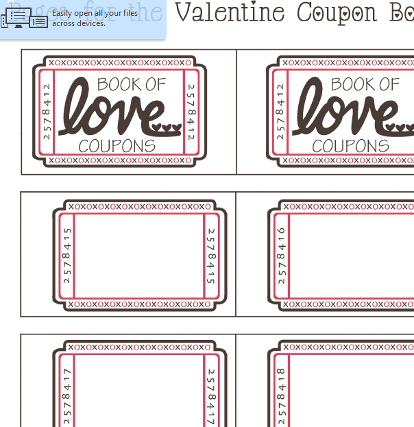 valentine u2019s day coupon sheet