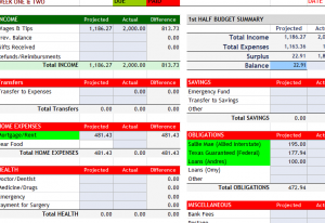 Weekly Home Budget Template My Excel Templates