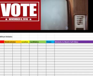 Republican Primary Debate Schedule