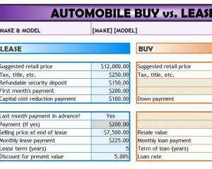 automobile buy vs lease